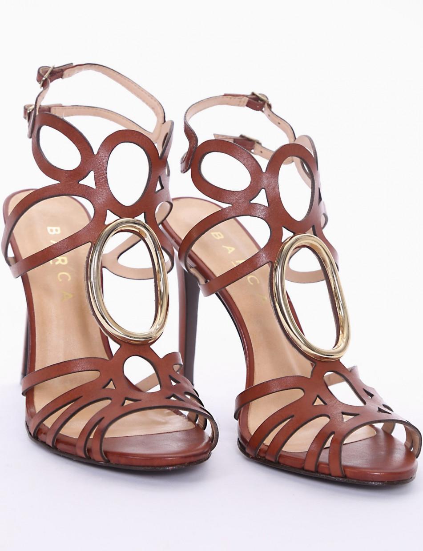 High heel sandals heel 11 cm leather