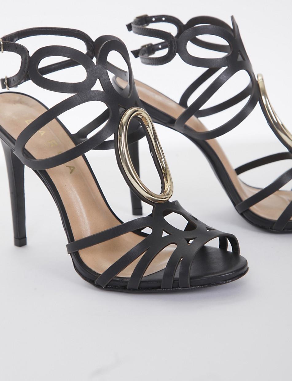 sandalo tacco 11 cm nero