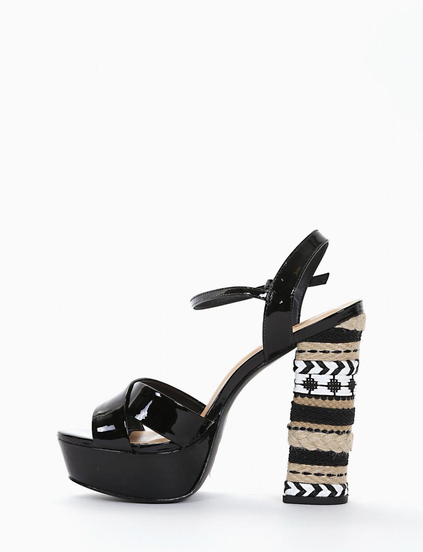 sandalo tacco 15 cm nero