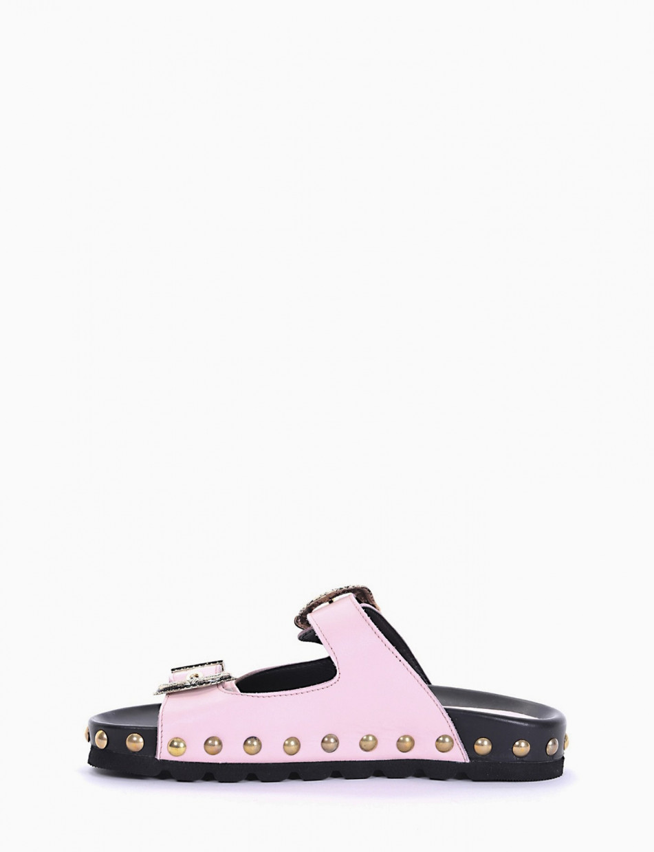 Slippers pink leather