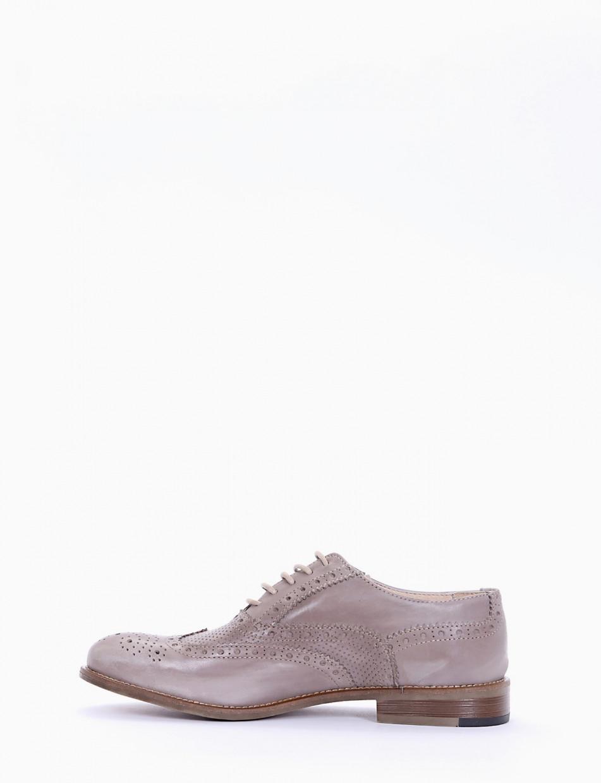 scarpa lacci tacco 2 cm tortora