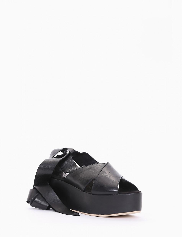 sandalo zeppa cm 5 nero