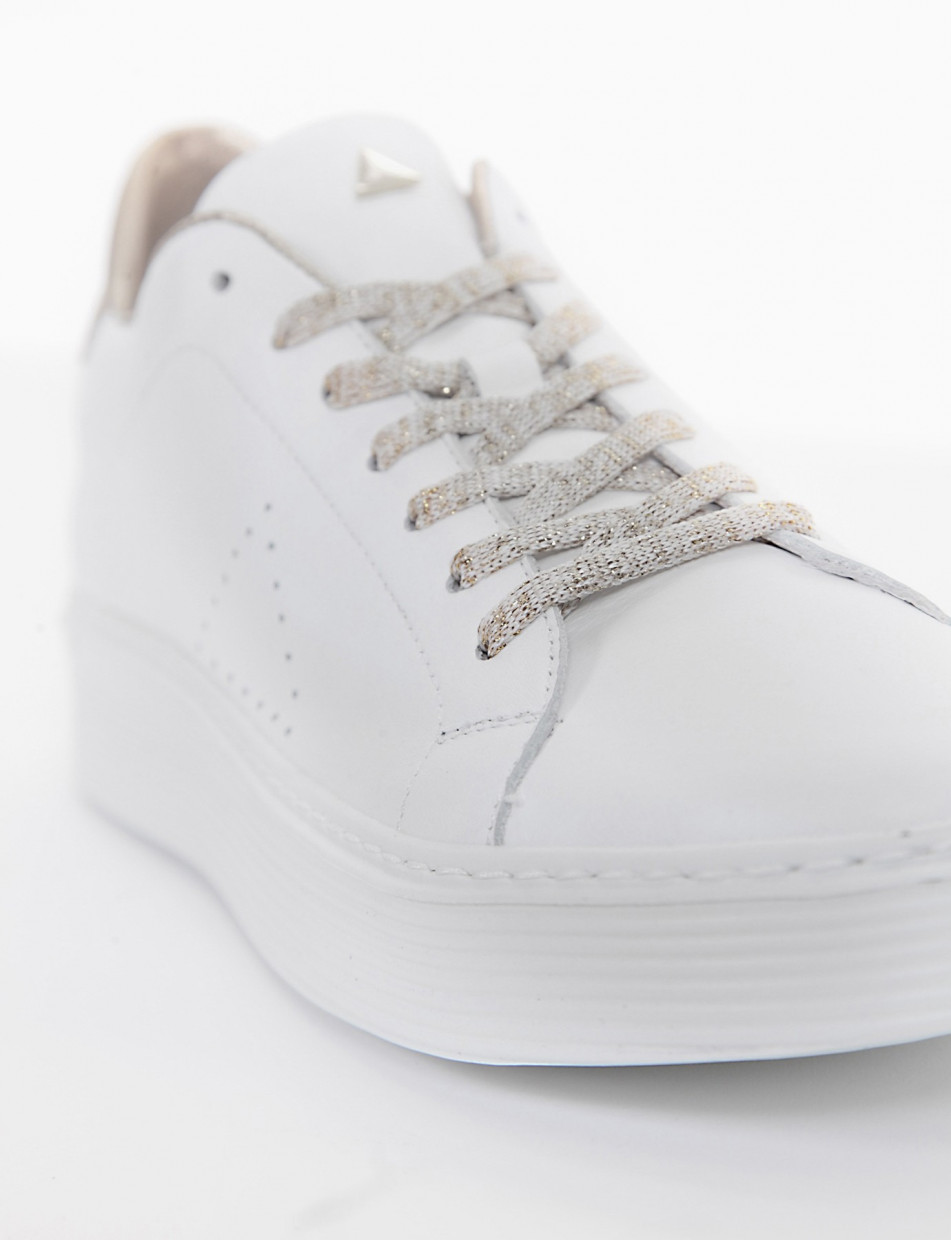 Sneakers heel 0 cm white leather