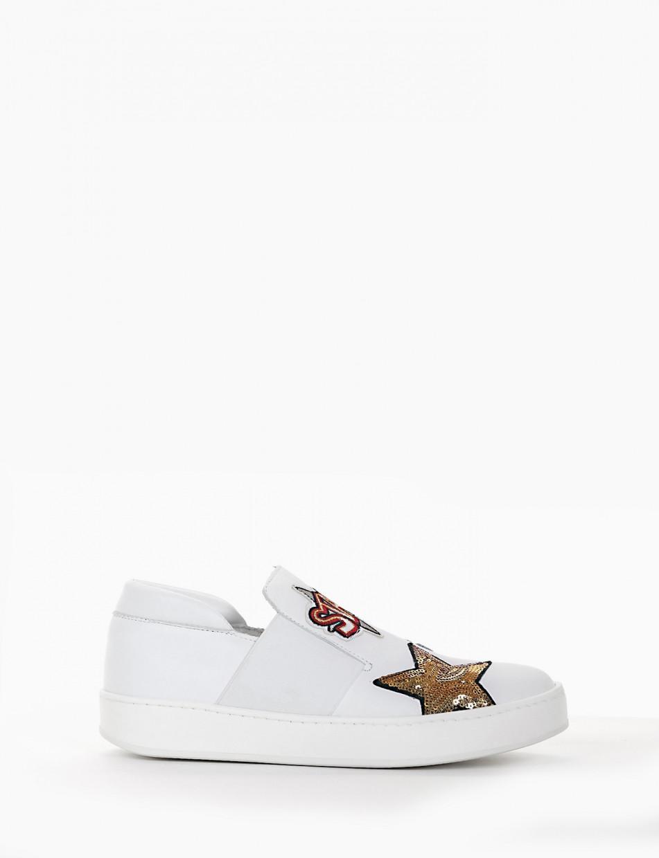 Sneakers heel 0 cm white leather