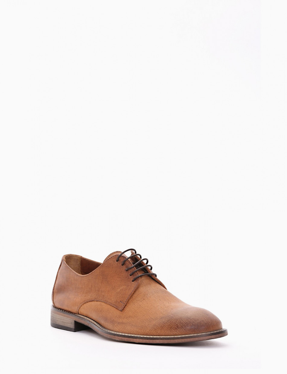 Lace-up shoes heel 1 cm leather