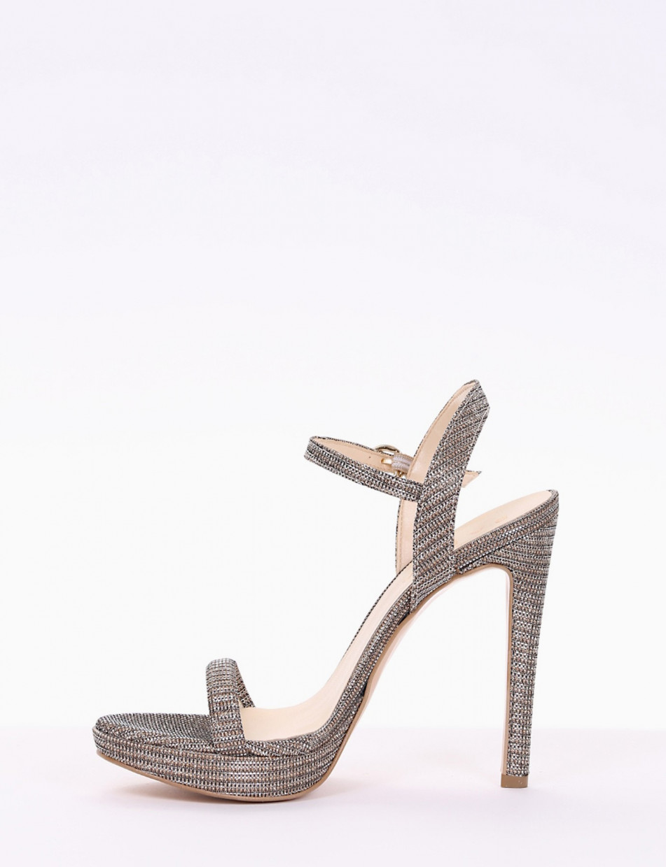 sandalo tacco 11 cm bronzo