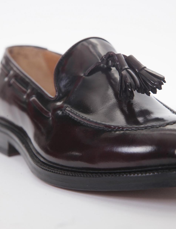 Loafers heel 2 cm bordeaux spazzolato