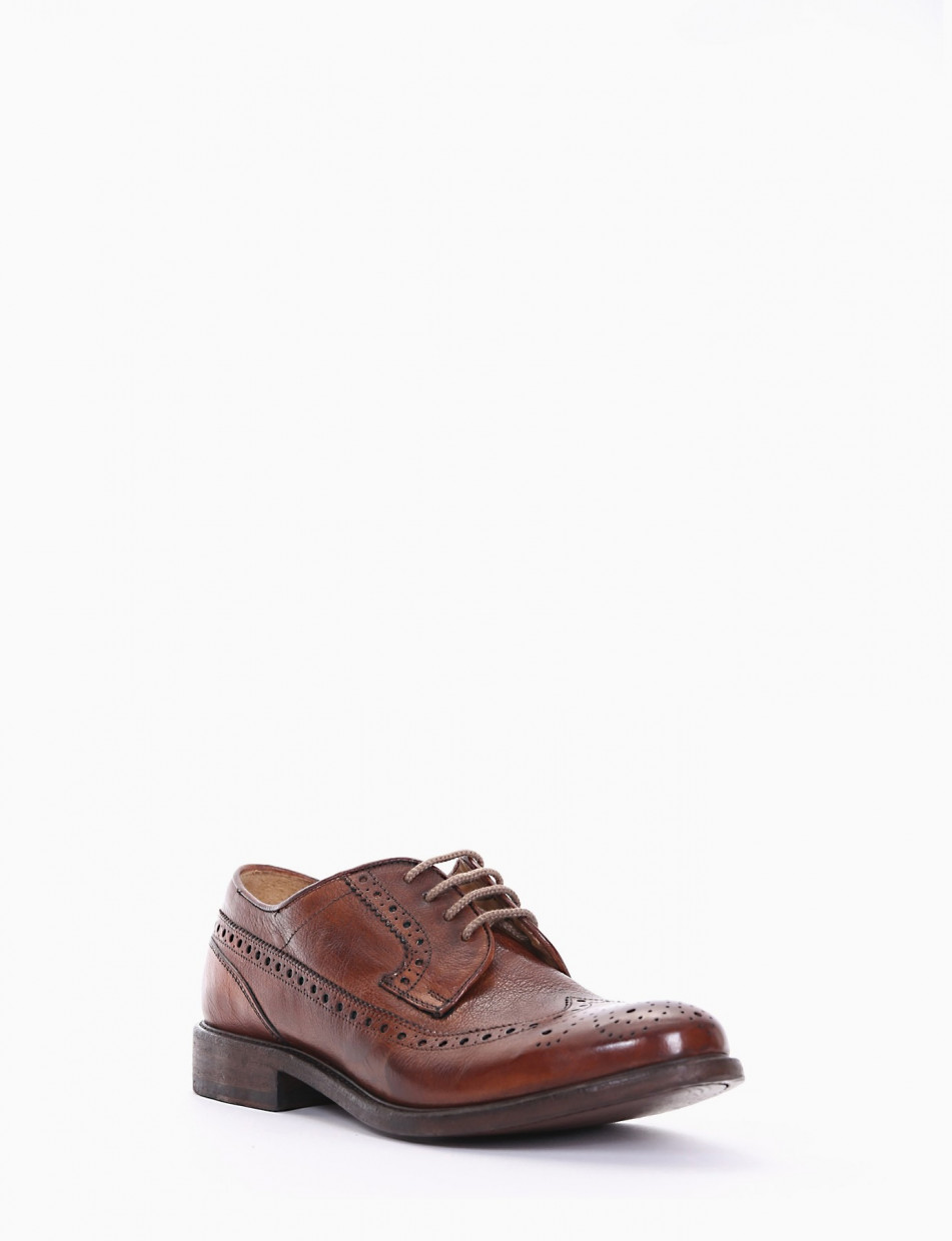 Lace-up shoes heel 2 cm leather