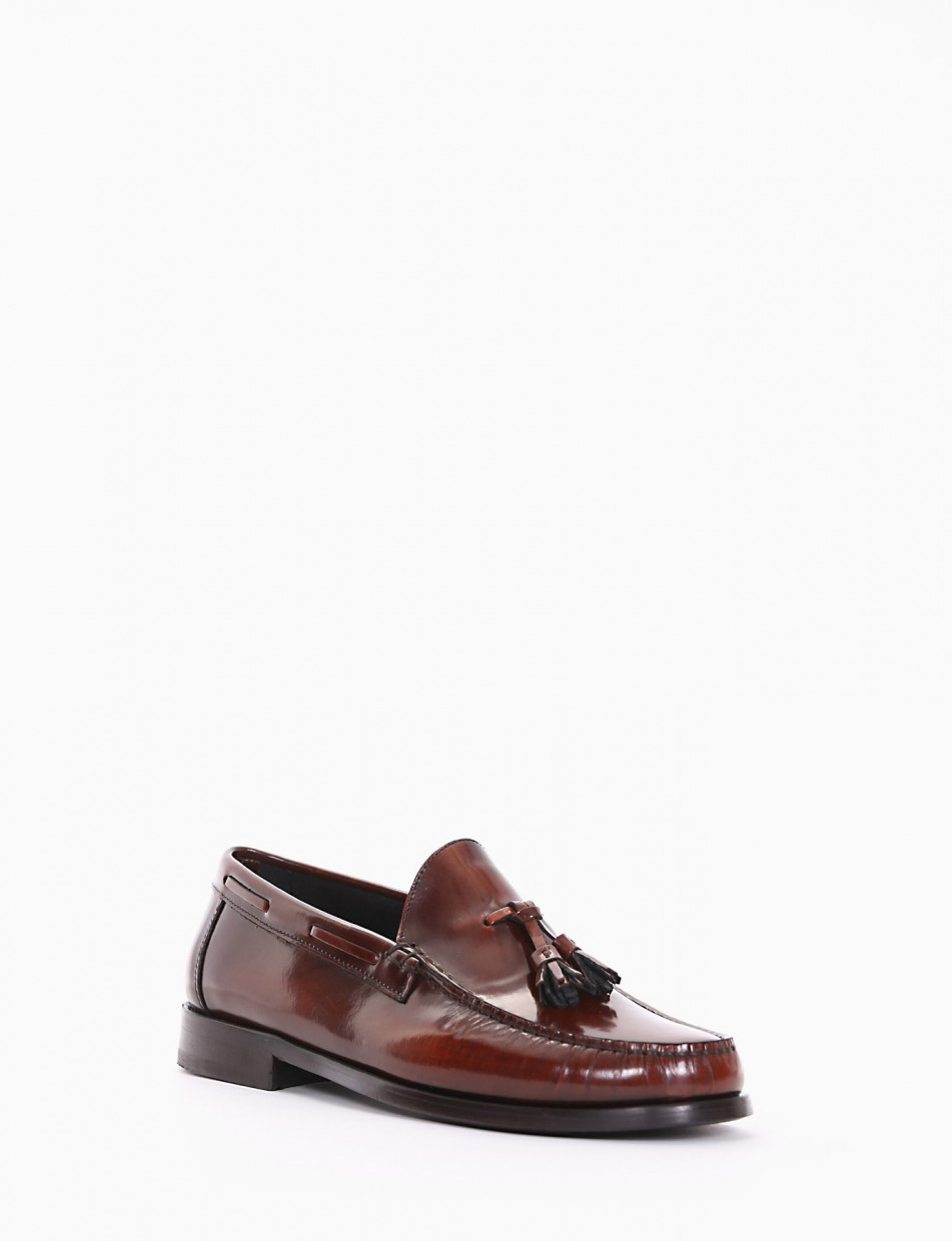 Loafers heel 2 cm leather