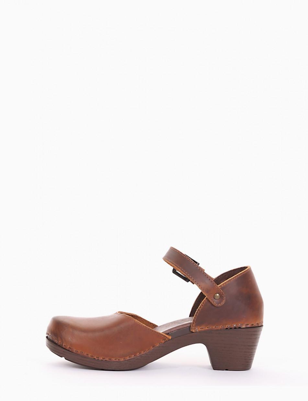 Sneakers heel 4 cm leather
