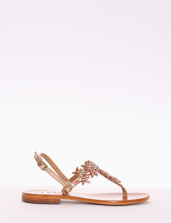 Flip flops heel 2 cm copper laminated