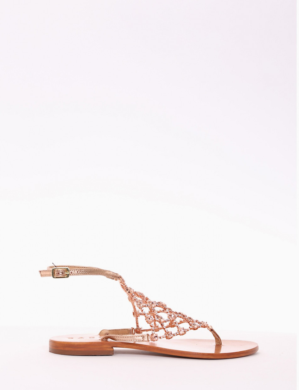sandalo infradito tacco 2 cm rame