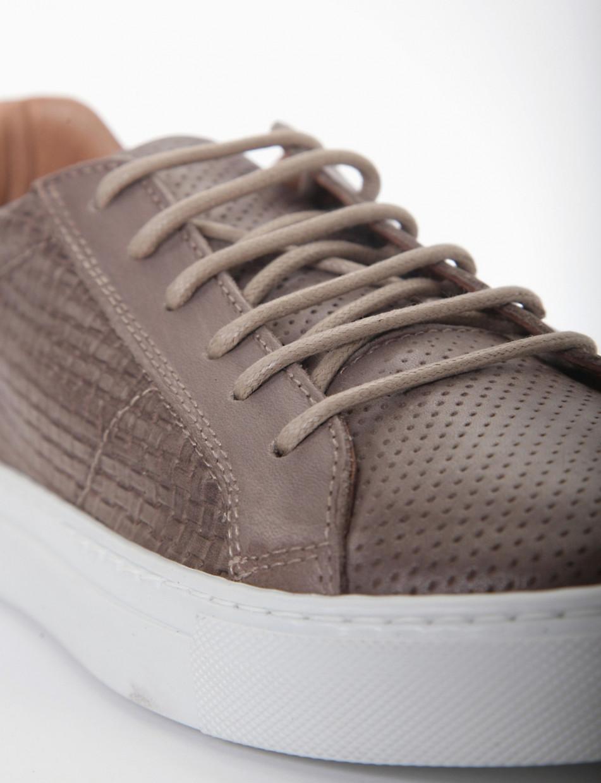 Sneakers beige leather