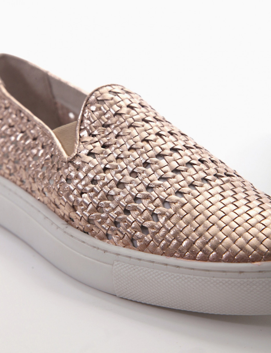 Sneakers bronze leather