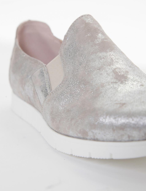 Loafers heel 2 cm tortora chamois