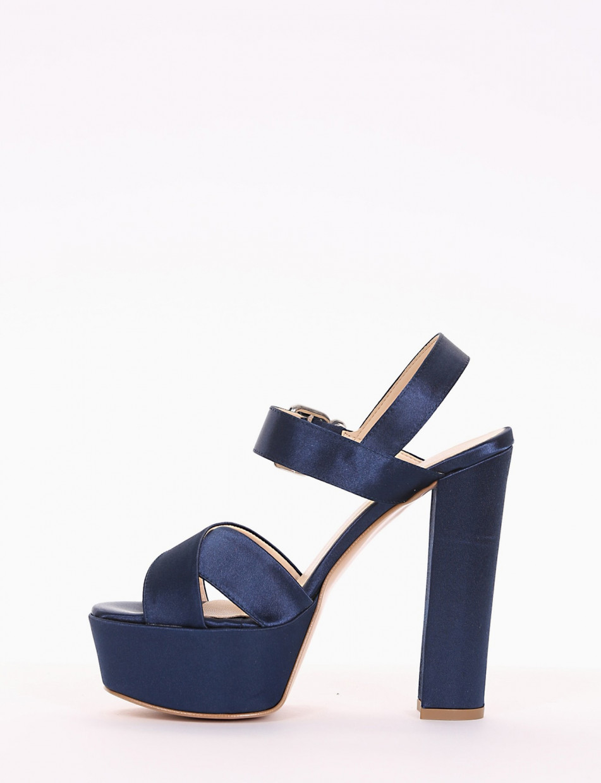 sandalo tacco 14 cm  blu