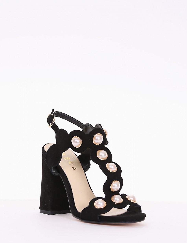 sandalo tacco 10 cm nero