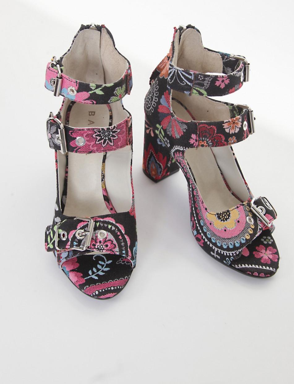 Sandalo tacco 8cm multicolor
