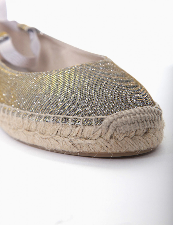Espadrillas gold glitter
