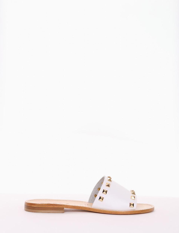 ciabatta tacco 1 cm bianco