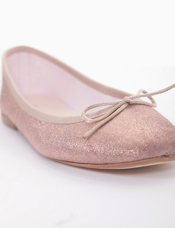 Flat shoes heel 5cm copper laminated