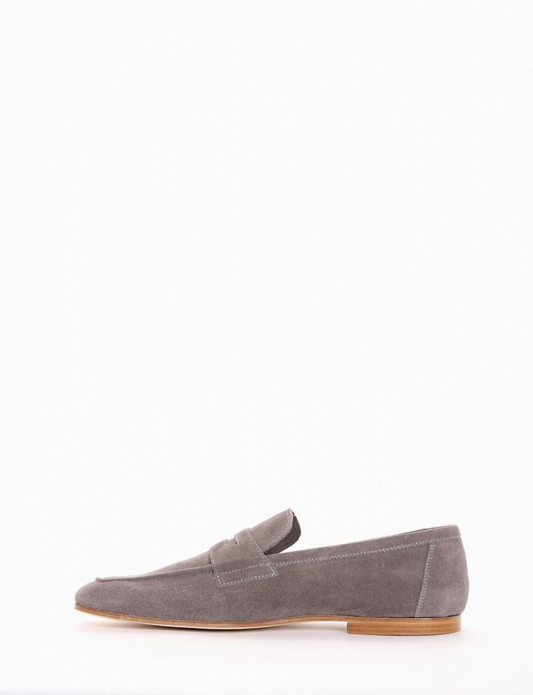 Loafers heel 2cm beige chamois