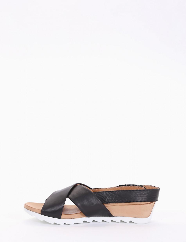 sandalo zeppa 3 cm nero