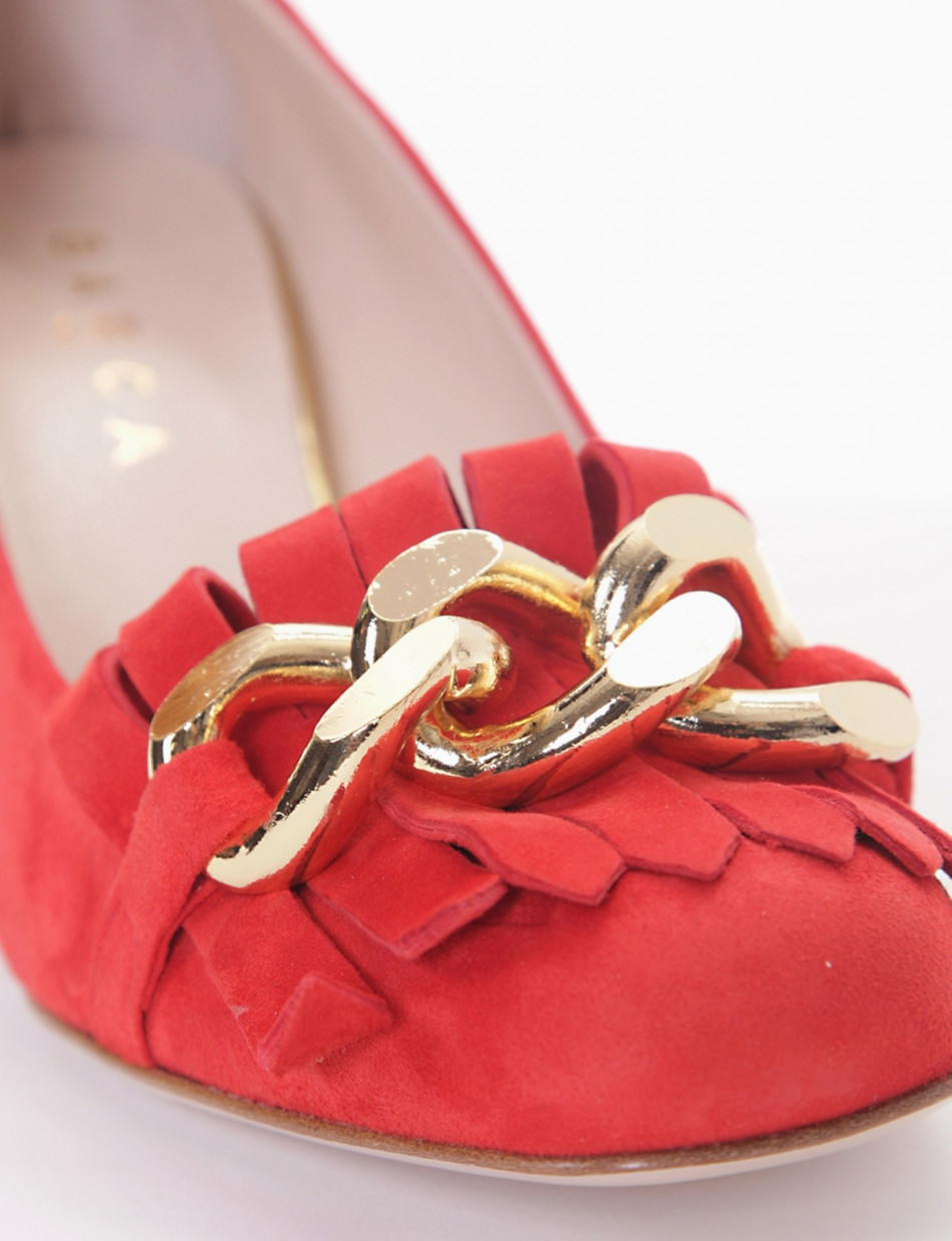 Loafers red chamois