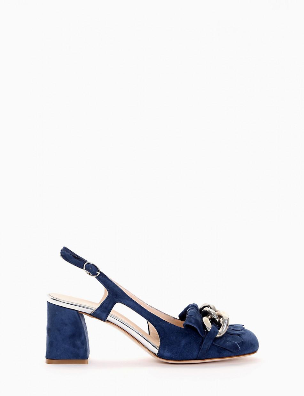 Chanel tacco 6cm  blu