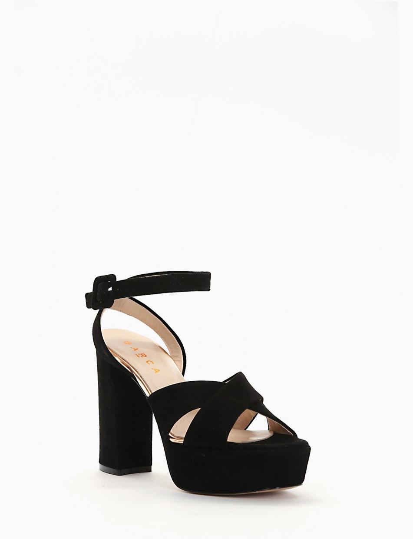 Sandalo plato 4cm con  tacco 11cm  nero