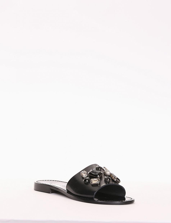 ciabatta tacco 1 cm nero
