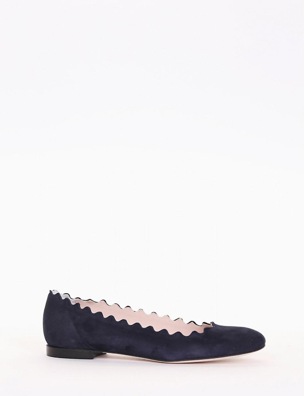 ballerina tacco 1 cm blu