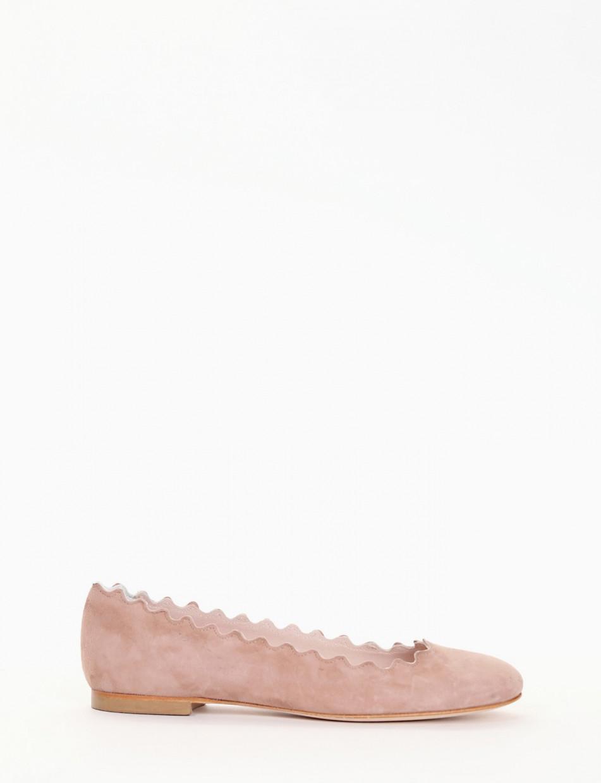 ballerina tacco 1 cm rosa