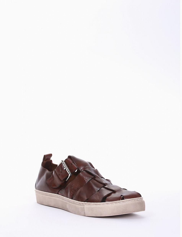 Sandals heel 1 cm leather