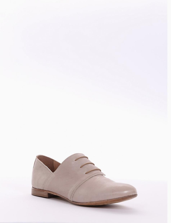scarpa lacci tacco 2 cm beige   Barca Stores