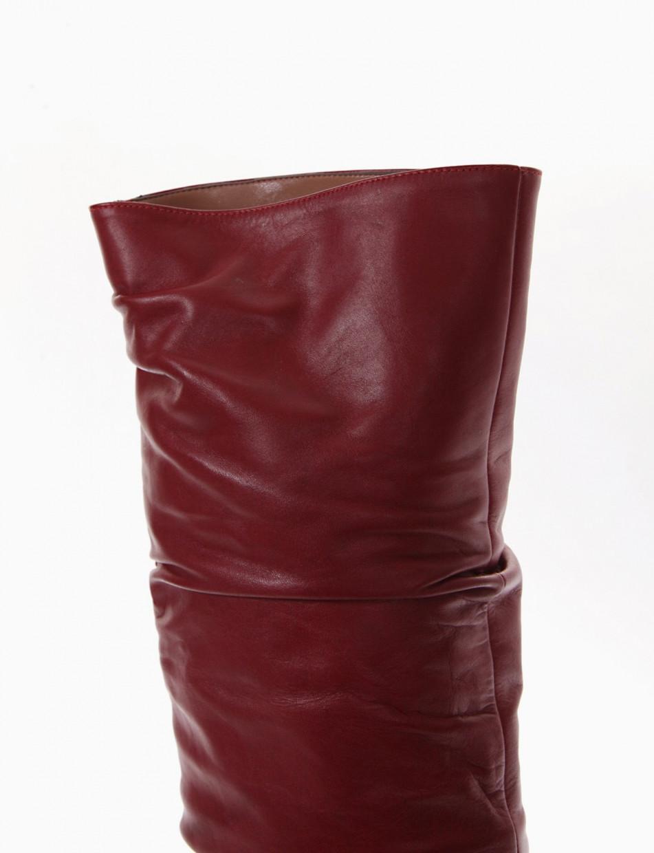 stivale tacco 10 cm rosso