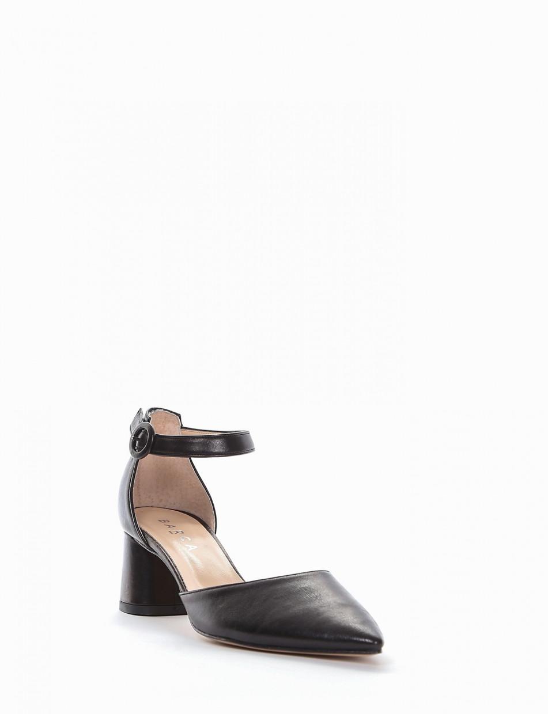 scarpa lacci tacco 2 cm tortora   Barca Stores